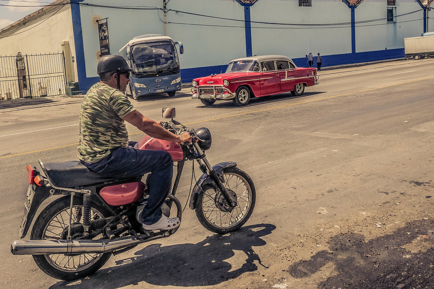 Cuban guy in Resurgence Gears, Pekev® Lite, Dark Blue motorcycle jeans Australia - Picture by Dean Saffron