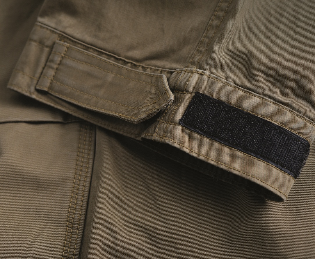 Mens Motorcycle Cargo Pants - Tan - with PEKEV armor lined 100% cotton - additional Zipper 1