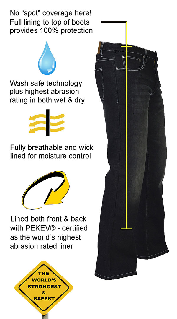 highest protection again abrasion motorcycle jeans
