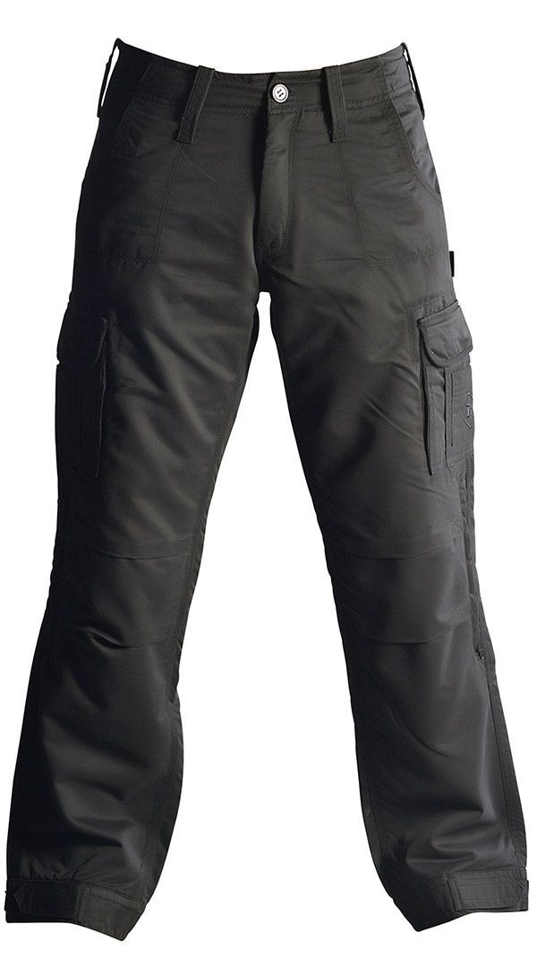 Mens motorcycle cargo pants - Black - Protective armoured pants