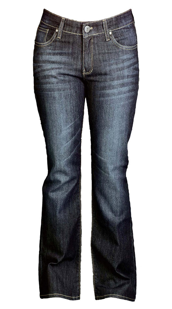 Womens motorcycle Jeans with armour - Blue Black AU