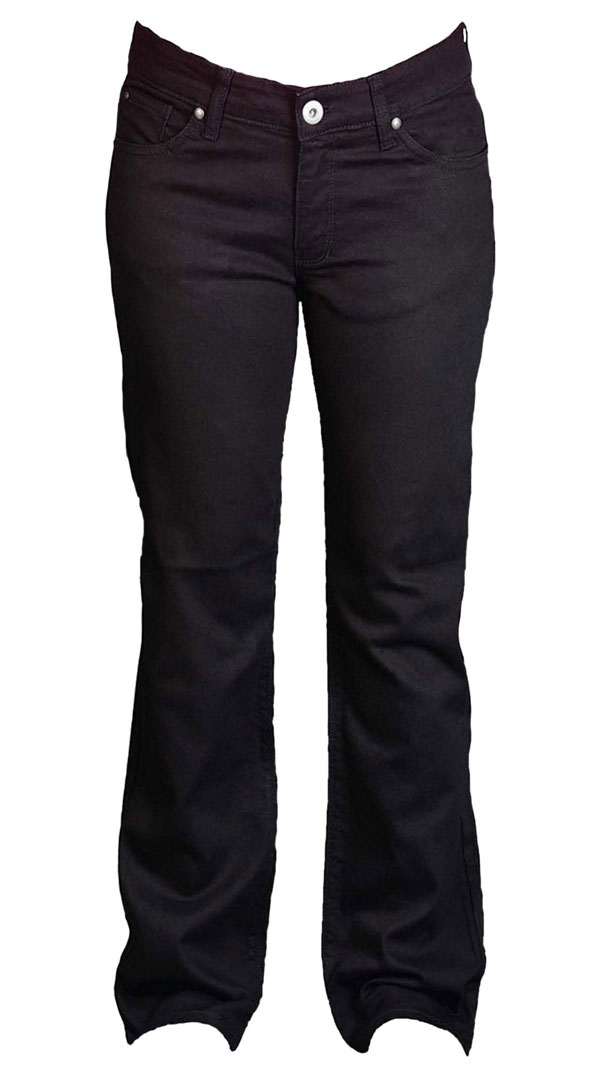 Womens motorcycle Jeans with armour - Jet Black