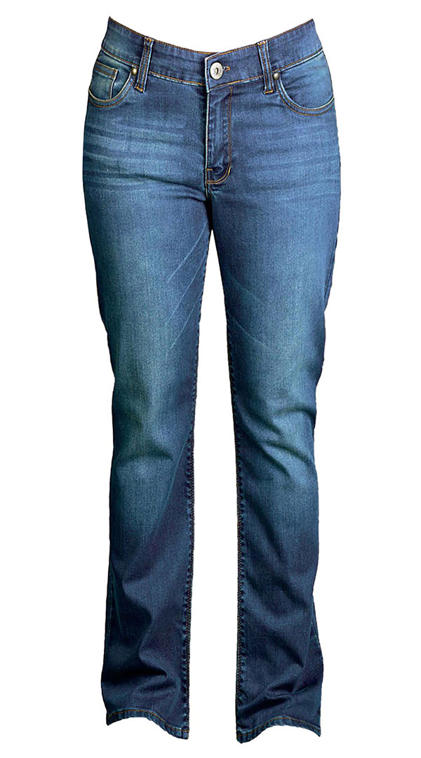 WOMENS JEANS : MEDIUM BLUE