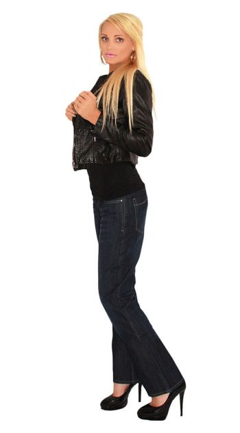 Womens motorcycle jeans with armour - blue black 3
