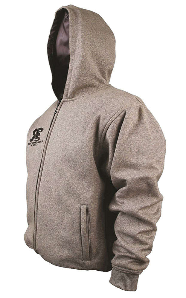 Motorcycle armoured hoodies for men - Grey - Fully PEKEV lined