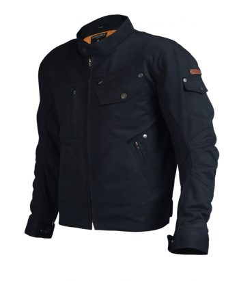 Mens motorcycle Jacket with armour - Black color