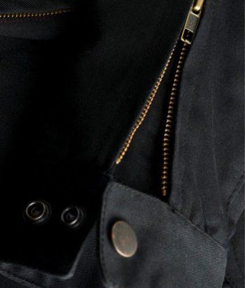Mens motorcycle Jacket with armor - Black - YKK Zip