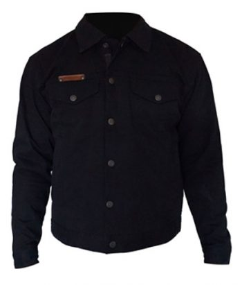 Denim motorcycle Jacket Australia - Black - Front