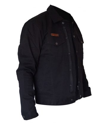 Denim motorcycle Jacket Australia - Black