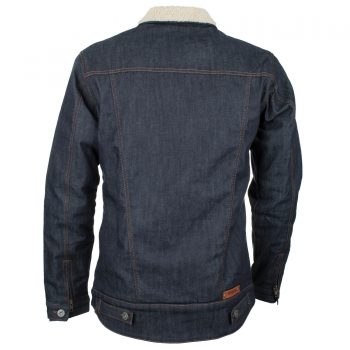 sherpa jacket blue - backside