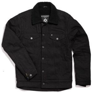 sherpa jacket - black - front