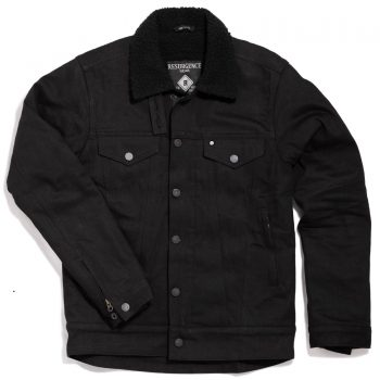 sherpa jacket - black - front