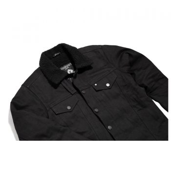 sherpa motorcycle jacket - black
