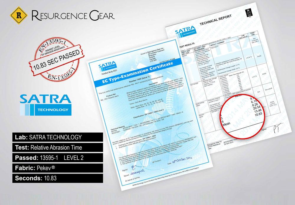 Resurgencegear Certificate and Test Report